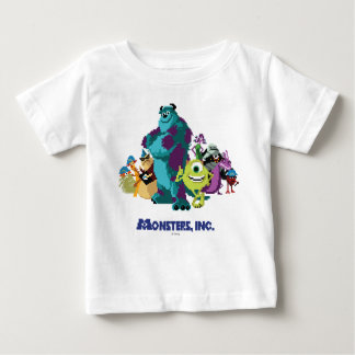 Monsters Inc 8Bit Mike, Sully, and the Gang Baby T-Shirt