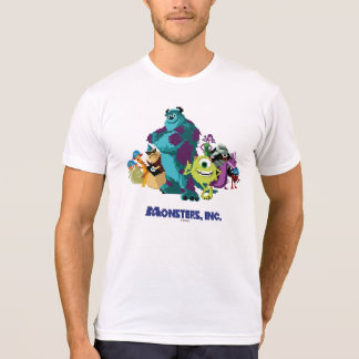 Monsters Inc 8Bit Mike, Sully, and the Gang T-Shirt