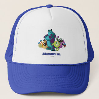 Monsters Inc 8Bit Mike, Sully, and the Gang Trucker Hat