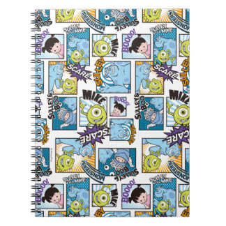 Monsters, Inc. | Comic Pattern Mania Spiral Notebook