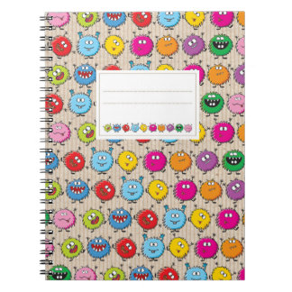 Monsters mix ring binder notebooks