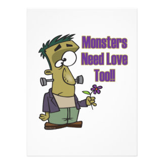 monsters need love too funny frankenstein custom announcements