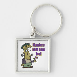 monsters need love too funny frankenstein keychain