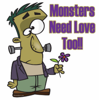 monsters need love too funny frankenstein photo cut out