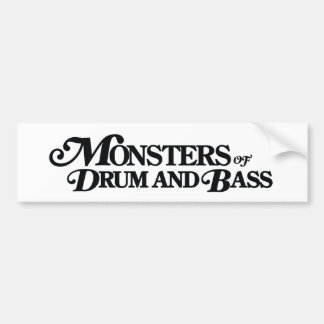 Monsters of Drum and Bass Bump Sticker