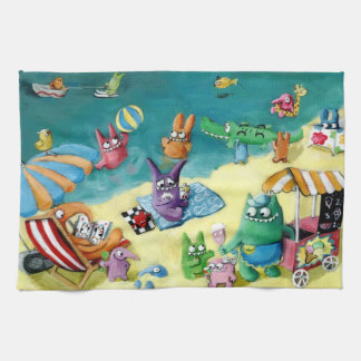 Monsters on the Beach Towel