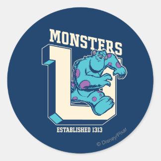Monsters U - Established 1313 Round Sticker