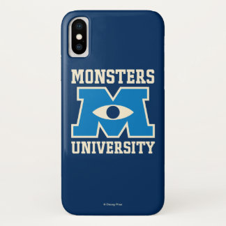 Monsters University Blue Logo iPhone X Case