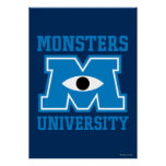 Monsters University Blue Logo Posters