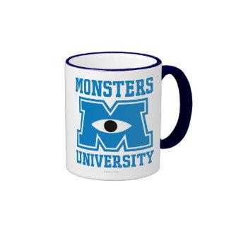 Monsters University Blue Logo Ringer Coffee Mug