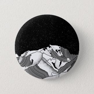 Mont Blanc black and white mountain 2 Inch Round Button