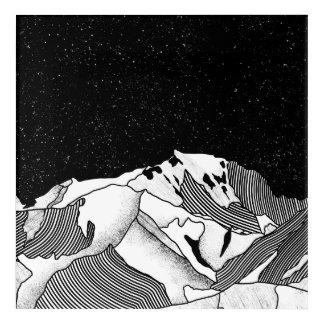 Mont Blanc black and white mountain Acrylic Print