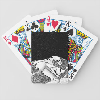 Mont Blanc black and white mountain Bicycle Playing Cards