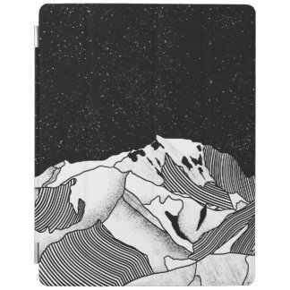 Mont Blanc black and white mountain iPad Cover