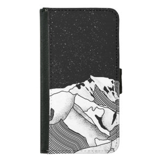 Mont Blanc black and white mountain Samsung Galaxy S5 Wallet Case
