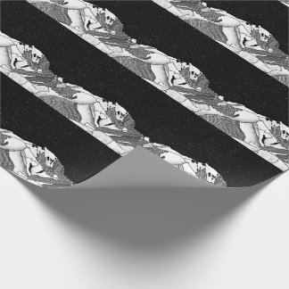 Mont Blanc black and white mountain Wrapping Paper