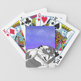 Mont Blanc evening landscape Bicycle Playing Cards
