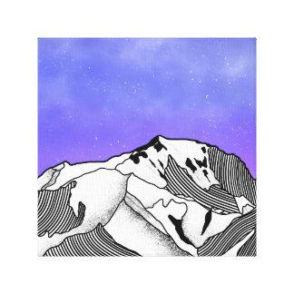 Mont Blanc evening landscape Canvas Print