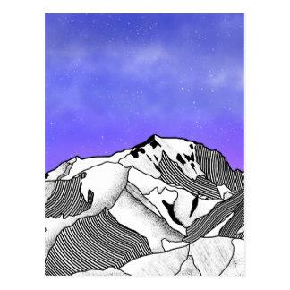 Mont Blanc evening landscape Postcard