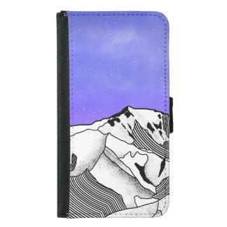 Mont Blanc evening landscape Samsung Galaxy S5 Wallet Case
