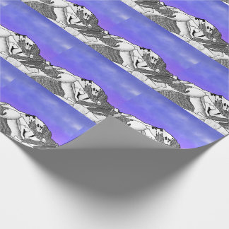 Mont Blanc evening landscape Wrapping Paper