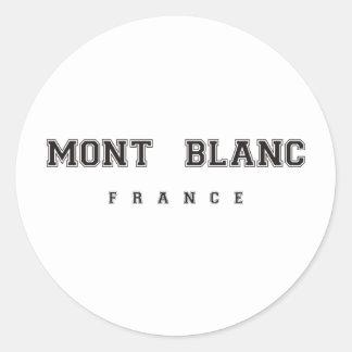 Mont Blanc France Round Sticker