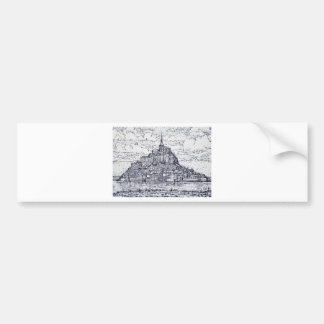 mont saint-michel bumper sticker