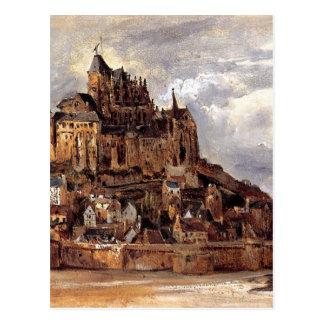 Mont Saint-Michel by Theodore Rousseau Postcard