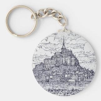 mont saint-michel keychain