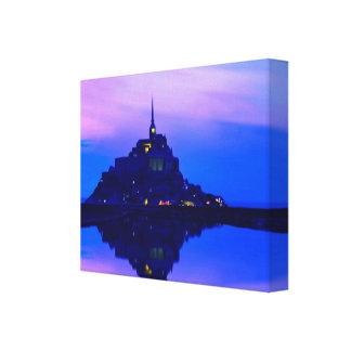 Mont Saint-Michel Painting Canvas Print