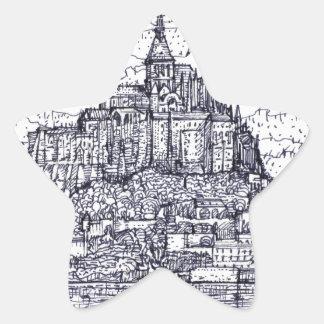 mont saint-michel star sticker