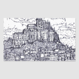 mont saint-michel sticker