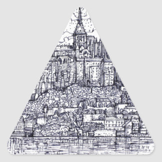 mont saint-michel triangle sticker