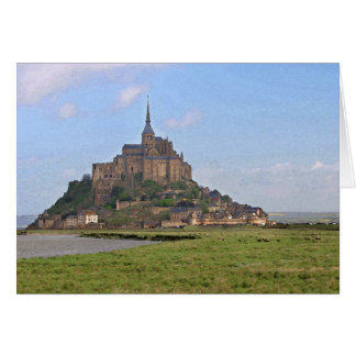 Mont Saint Michele Watercolor Greeting Card