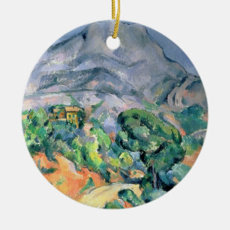Mont Sainte-Victoire, 1900 Ceramic Ornament