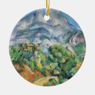 Mont Sainte Victoire Above Tholonet, Paul Cezanne Ceramic Ornament