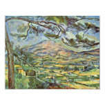 Mont Sainte-Victoire By Paul Cézanne (Best Quality Personalized Invitation