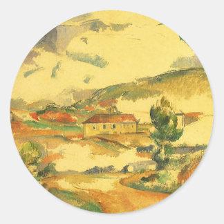 Mont Sainte Victoire by Paul Cezanne, Vintage Art Classic Round Sticker