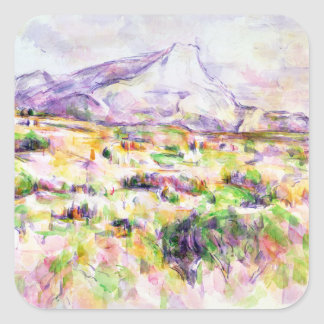 Mont Sainte-Victoire from Les Lauves Square Sticker