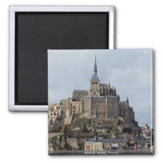 Mont St. Michel, France Square Magnet