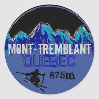 Mont Tremblant Quebec colorful ski art stickers