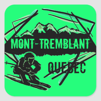 Mont Tremblant Quebec ski green stickers