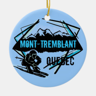 Mont Tremblant Quebec ski ornament
