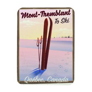 Mont-Tremblant Québec Ski poster. Magnet