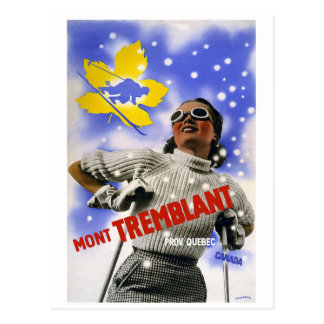 """Mont Tremblant"" Vintage Travel Postcard"