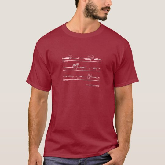Monta Loma Neighbourhood Architectural Styles T-Shirt