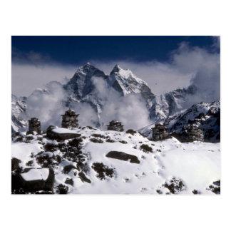 Montagnes alpines, hiver du Népal Cartes Postales