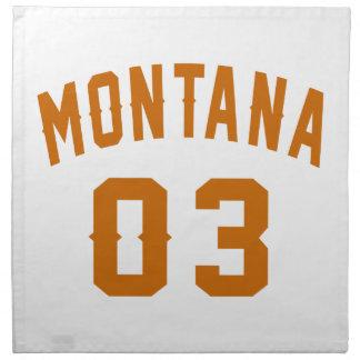 Montana 03 Birthday Designs Napkin