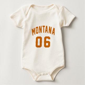 Montana 06 Birthday Designs Baby Bodysuit