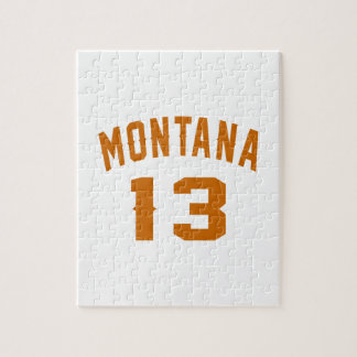 Montana 13 Birthday Designs Jigsaw Puzzle